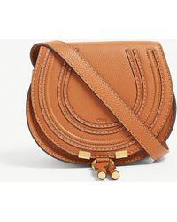 Chloé Marcie Leather Cross-body Bag - Brown