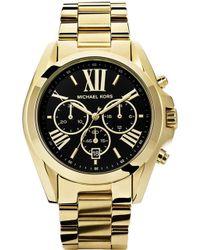 Michael Kors - Mk5739 Bradshaw Gold-plated Watch - Lyst