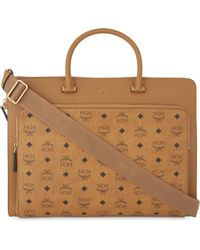 MCM - Otto Visetos Coated Canvas Large Briefcase - Lyst