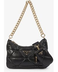 Prada Re-edition Quilted Leather Cross-body Bag - Black