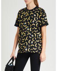 Chocoolate - Minion Banana-print Cotton-jersey T-shirt - Lyst