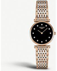 Longines L4.209.1.57.7 Diamond And Stainless Steel Watch - Metallic