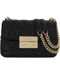 MICHAEL Michael Kors Michael Kors Women's Black Sloan Leather Shoulder Bag