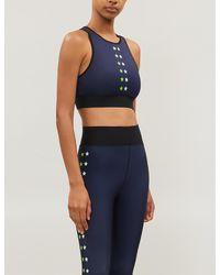 Ultracor Flash Ko Star-print Cropped Stretch-jersey Vest Top - Blue