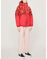 A Bathing Ape Camouflage-print Padded Shell Jacket - Red