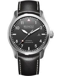 Bremont | Solo/wh Automatic 43mm Stainless Steel And Leather Watch | Lyst