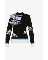 Undercover Cloud High-neck Wool Sweater - Black