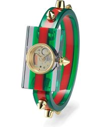 Gucci - Ya143506 Skeleton Dial Plexiglass And Gold-plated Watch - Lyst