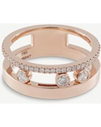 Messika Move Romane 18ct Rose-gold And Diamond Ring - Pink