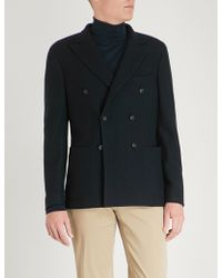 Slowear - Montedoro Knitted-wool Double-breasted Jacket - Lyst