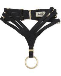 Bordelle Tomoe Bondage Collar - Black