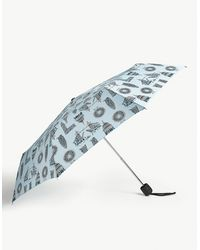 Fulton London Landmark Stowaway Deluxe Umbrella - Blue