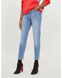 Karl Lagerfeld Karl Lagerfeld X Kaia Mom-fit Tapered High-rise Jeans - Blue
