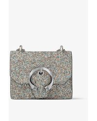 Jimmy Choo Paris Mini Coarse Glitter Cross-body Bag - Metallic
