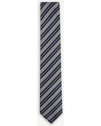 BOSS - Striped Silk Tie - Lyst