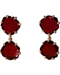 Annoushka - Shard 18ct Rose-gold And Rhodolite Garnet Drop Earrings - Lyst