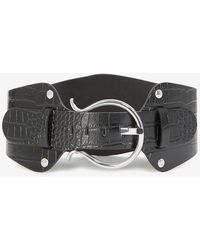 The Kooples Leather And Silver-tone Belt - Multicolour