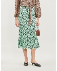 Olivia Rubin Zebra Print Skirt - Green