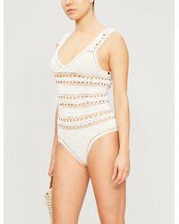 She Made Me - Jaya Crocheted Swimsuit - Lyst