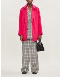 Theory Single-breasted Wool And Cashmere-blend Coat - Pink