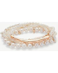 Kendra Scott - Supak 14ct Rose Gold-plated And Pearl Beaded Bracelet - Lyst