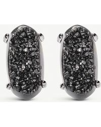 Kendra Scott Betty Gunmetal-plated And Black Drusy Earrings