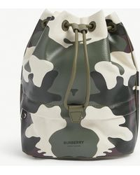 Burberry Camouflage-print Cotton-canvas Pouch - Green