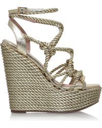 KG by Kurt Geiger - Notty Rope-detail Fabric Sandals - Lyst