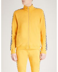 Criminal Damage Chequer Cotton-jersey Track Jacket - Yellow