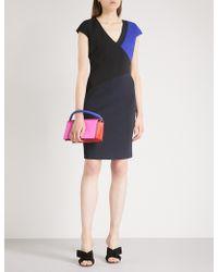 Diane von Furstenberg   Geometric-panel Fitted Woven Dress   Lyst