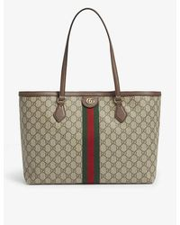 Gucci Ophidia Medium GG Supreme Canvas Tote Bag - Natural