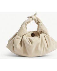The Row - Ladies White And Gold Timeless Ascot Velvet Shoulder Bag - Lyst