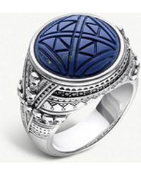Thomas Sabo - Rebel At Heart Engraved Skulls Silver Signal Ring - Lyst