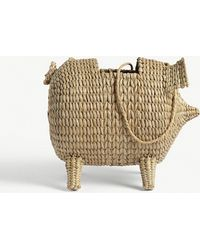 Cult Gaia - The Babe Straw Shoulder Bag - Lyst