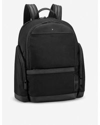 Montblanc Nightflight Canvas And Leather Backpack - Black