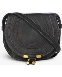 Chloé Marcie Small Leather Cross-Body Bag - Brown