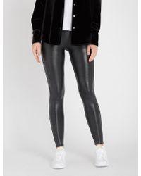Spanx Crocodile-print Faux-leather leggings - Multicolour