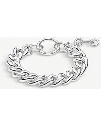Thomas Sabo Circle Sterling Silver Chunky Curb Chain Bracelet - Metallic