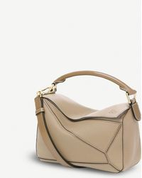 Loewe Puzzle Multi-function Leather Bag - Natural