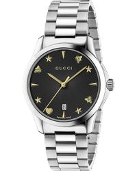 b1bf875469f Gucci Ya126301 G-timeless Polished Stainless Steel Watch in Gray for ...