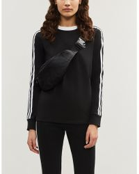 be5dd03e9b5 adidas Originals - 3-stripes Embroidered-logo Cotton-jersey Top - Lyst