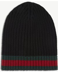 Gucci - Striped Wool Beanie - Lyst