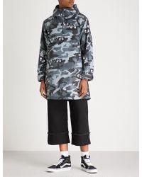 Mini Cream - Camouflage-print Hooded Shell Jacket - Lyst