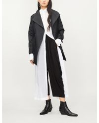 Issey Miyake - Sunset Contrast-panel Woven Coat - Lyst