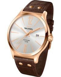 TW Steel - Tw1304 Slim Line Rose Gold-plated Stainless Steel Watch - Lyst