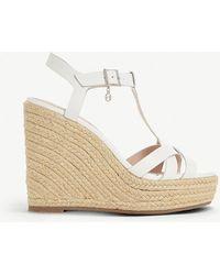 Dune - Kaylaa Leather Wedge Sandals - Lyst