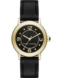 Marc Jacobs - Mj1475 Stainless Steel Quartz Leather Strap Watch - Lyst