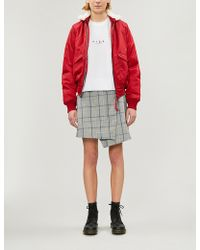 Izzue Faux-fur And Shell Bomber Jacket - Red