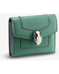 BVLGARI - Serpenti Forever Leather Card Holder - Lyst