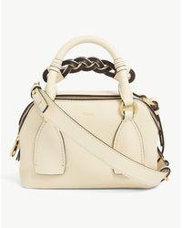 Chloé Daria Small Leather Crossbody Bag - Natural